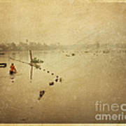 Thai River Life Art Print