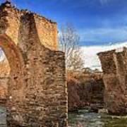 The Ancient Bridge At Ponte Novu In Corsica Art Print