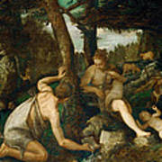 Adam And Eve After The Expulsion From Paradise Art Print