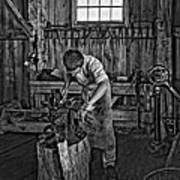 The Apprentice Monochrome Art Print by Steve Harrington