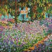 The Artists Garden At Giverny Art Print