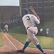 The Babe Sends One Out Art Print