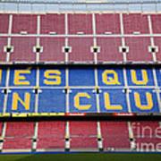The Camp Nou Stadium In Barcelona Art Print