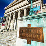 The Field Museum Sign In Chicago Art Print by Paul Velgos