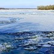 The Frozen Dnieper River Art Print