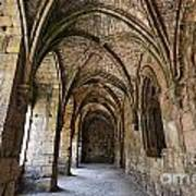 The Gothic Cloisters Inside The Crusader Castle Of Krak Des Chevaliers Syria Art Print