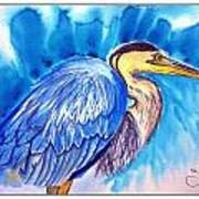 The Great Blue Heron Art Print