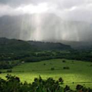 The Green Valley Surrounding Hanalei Art Print
