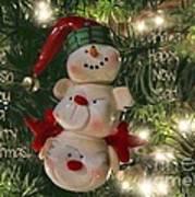 The Happy Snowman Art Print