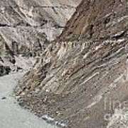 The Hunza River In Pakistan Art Print