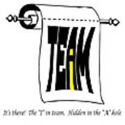 The I In Team Print by Steve Harrington