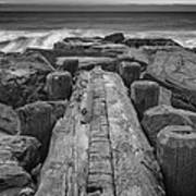 The Jetty In Black And White Art Print