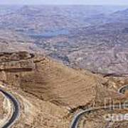 The King's Highway At Wadi Mujib Jordan Print by Robert Preston