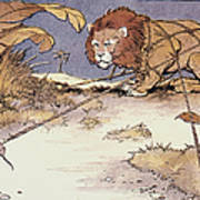 The Lion And The Mouse Art Print