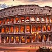 The Majestic Coliseum - Rome - Italy Art Print