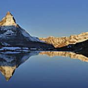 The Matterhorn And Riffelsee Lake Art Print
