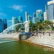 The Merlion  Fountain - Singapore Art Print