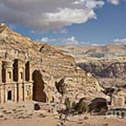 The Monastery El Deir Or Al Deir Art Print