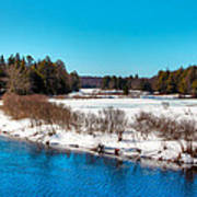 The Moose River - Old Forge New York Art Print