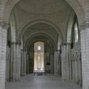 The Nave - Cloister Fontevraud Art Print