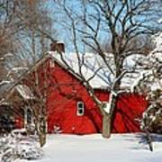 The Old Red House Art Print