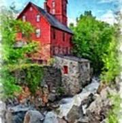 The Old Red Mill Jericho Vermont Art Print