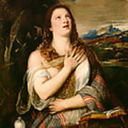 The Penitent Magdalene Art Print