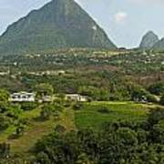 The Pitons In Saint Lucia Art Print