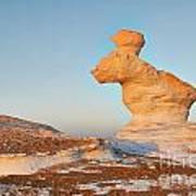 The Rabbit Stone Formation In White Desert Art Print