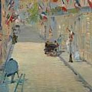 The Rue Mosnier With Flags Art Print