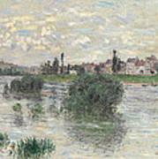 The Seine At Lavacourt Art Print