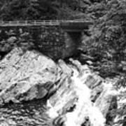 The Sinks Smoky Mountains Bw Art Print