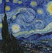 The Starry Night Art Print by Vincent Van Gogh