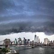 The Storm Over Manhattan Downtown Art Print