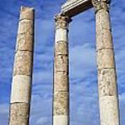 The Temple Of Hercules In The Citadel Amman Jordan Art Print