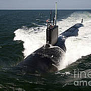 The Virginia-class Attack Submarine Uss Art Print