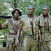 Three Soldiers Statue Art Print