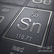 Tin Chemical Element Art Print