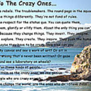 To The Crazy Ones Art Print