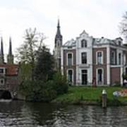 Town Canal - Delft Art Print