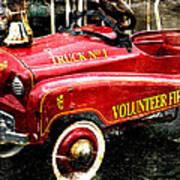 Toy Fire Truck Art Print by Bobbi Feasel