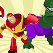 Toy Story Avengers Art Print