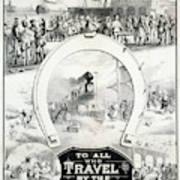 Travel Poster, C1882 Art Print