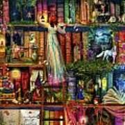 Treasure Hunt Book Shelf Art Print