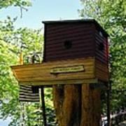 Tree House Boat 3 Art Print