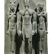 Triad Of Menkaure Mycerinus Art Print