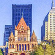 Trinity Church Boston Usa Art Print