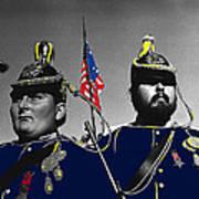 Troopers Indian Wars Memorial Encampment Ft. Lowell Tucson Arizona 1970-2008 Art Print