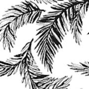 Tropical Jungle Floral Seamless Art Print