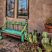 Turquoise Bench Art Print